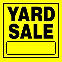 Yard sale today till 3pm