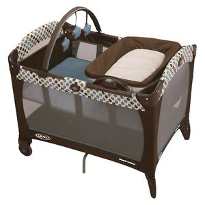 Graco playpen, play mat, baby chair