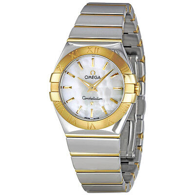 Omega Constellation Mother of Pearl Dial Steel and Yellow Gold Ladies Watch 123.