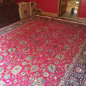 Large red Persian Tabriz handmade carpet negotiable