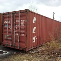 Gently used 20ft and 40ft steel sea containers for storage