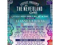 Leefest Neverland 6 tickets £200 Ono