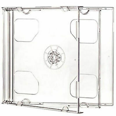10 Standard 10.4 mm Jewel Case Double CD DVD Disc Storage Assembled Clear Tray Double Clear Cd Jewel Cases