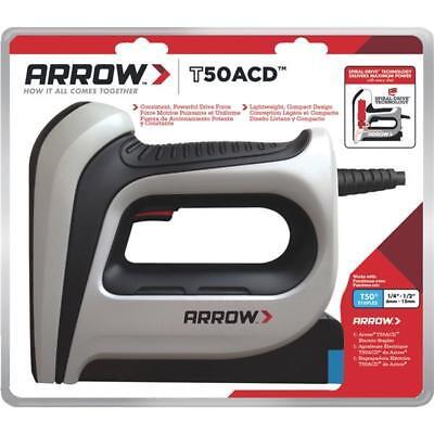 "3 Pk Arrow T50 1/4"" to 1/2"" Staples 5/8"" Brads High-Quality Electric Staple Gun"