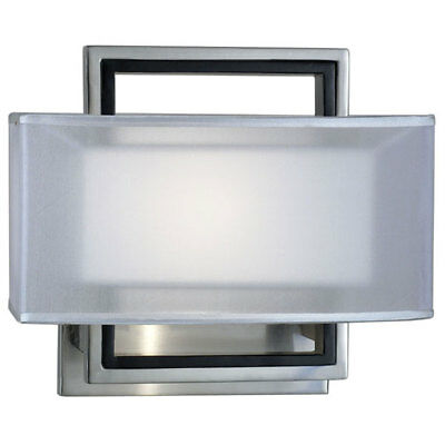 Nova Lighting 6349 Amarillo 2 Silver Sconce,Brushed Nickel,Ghost White Shade