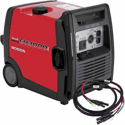 Honda Eu3000 Handi Inverter Generator With Parallel Cables Kit Single Genera...