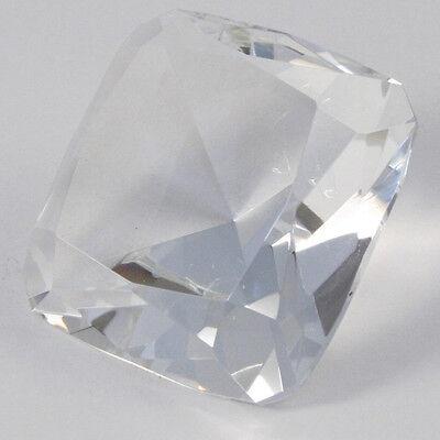 Diamante Cuadrado Cristal Decoración de Mesa de Boda 8cm