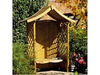 Tenbury Garden Arbour. New. Flatpack. Pick up today.