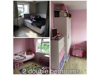 Large 2 double bed flat