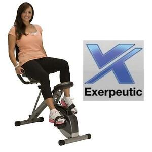 NEW EXERPEUTIC RECUMBENT BIKE FOLDING FITNESS CYCLE EXERCISE EQUIPMENT TRAINING WORKOUT 106415504
