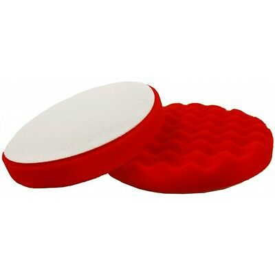 Flexipads 44560 150mm Red Waffle Polishing Foam - Velcro