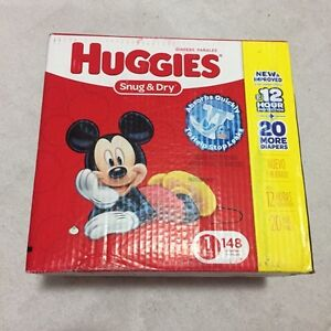 148 size 1 huggies unopened