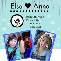 Elsa and Anna Frozen parties special !