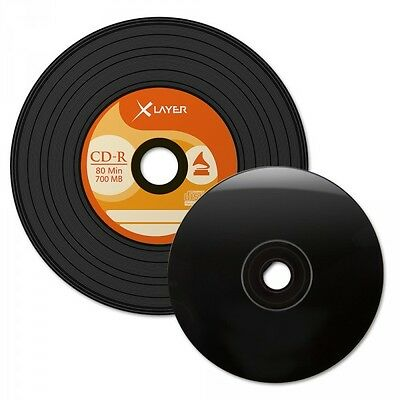 XLayer CD-R 700 Mb 80 Min 48x Vinyl Black 50er Spindel (50 Stk.)