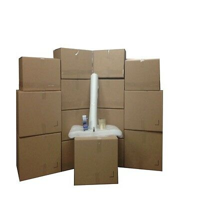 Bigger Moving Box Kit - 15 Boxes 5 Large10 Medium Plus Supplies Included