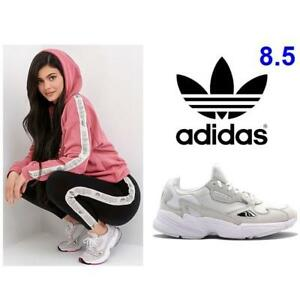save off a9d26 5efdc NEW ADIDAS SHOES WOMENS 8.5 B28128 226432968 ORIGINALS FALCON TRIPLE WHITE