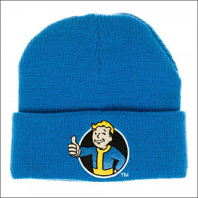 Fallout Vault Boy Bethesda Cosplay Costume Roll Slouch Cuff Blue Beanie Cap Hat](Fallout Vault Boy Costume)