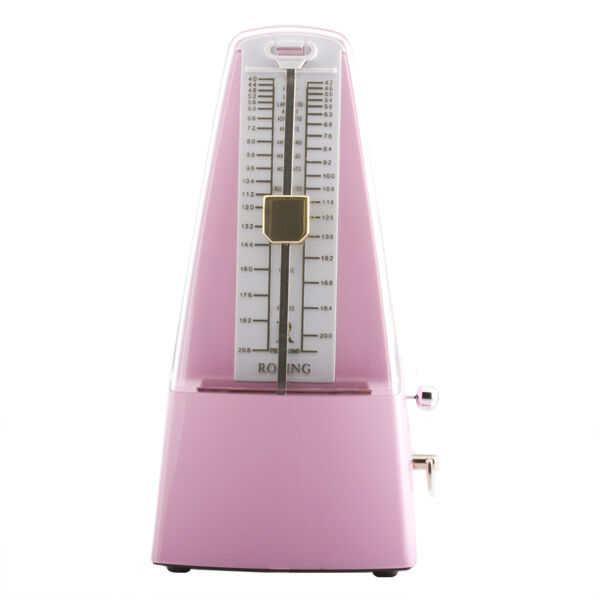 Traditional Wind Up Mechanical Pyramid Shape Metronome in Pink - MM-SPink