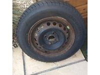 Tyre 165/70 R13 brand new on wheel