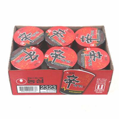 6pcs x  Nongshim Shin Ramen cup Korean Noodle Tasty Spicy Food Convenient_NK