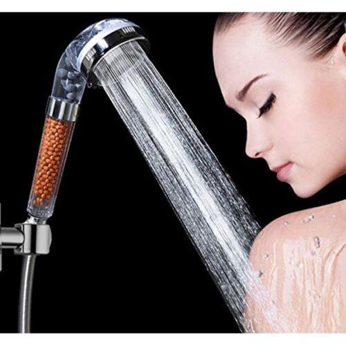 high turbo pressure shower head bathroom powerful energy water saving filter new. Black Bedroom Furniture Sets. Home Design Ideas