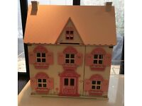 Rosebud cottage dolls house with furniture elc
