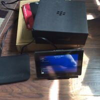 Blackberry play book with box original stand charger asking $80