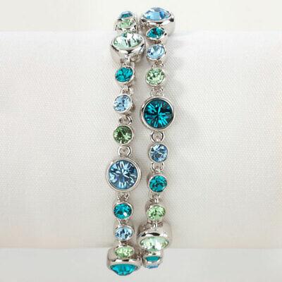 Touchstone Crystal blue sky double strand bracelet so gorgeous SWAROVSKI NIB Sky Blue Bracelets
