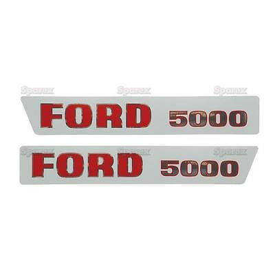 Ford 5000 1965-1968 Tractor Basic Hood Decal Set