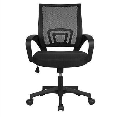 Smilemart Mid Back Adjustable Rolling Desk Chair Black