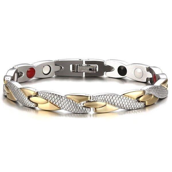 Health Stone Color Block Bracelet