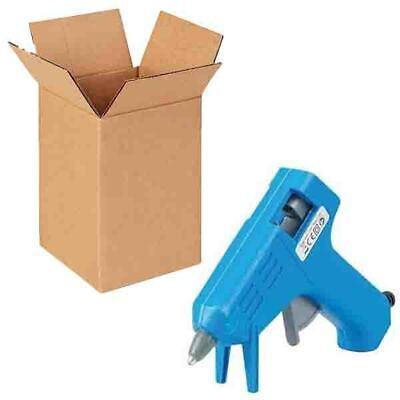 100 Flat Pack Card Board Gift Boxes Mini Glue Gun Sticks Craft Box 4 X 4 X 5.5