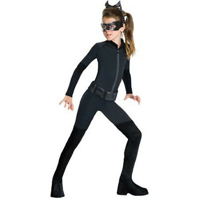 THE DARK KNIGHT TRILOGY CATWOMAN CHILD HALLOWEEN COSTUME GIRL'S SIZE SMALL 4-6