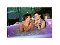 AJ Hot Tubs Hire Leeds/Wakefield - From £40 a day - Free 24/7 Delivery - Glow in the dark with jets
