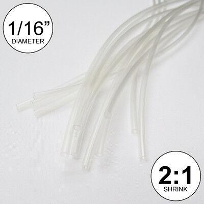 116 Id Clear Heat Shrink Tube 21 Ratio Polyolefin 25 Ft Inchfeetto 1.5mm