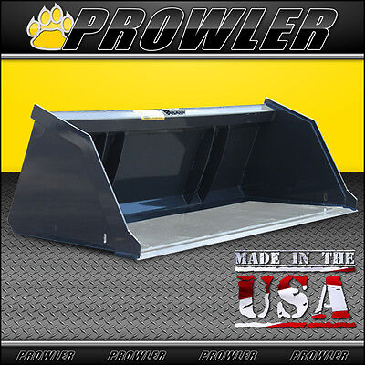 96 Snow And Litter Bucket For Skid Steer Compact Track Loaders - 96 Inch Wide