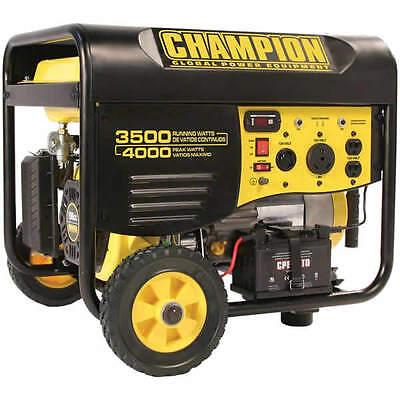 Backer 46539 - 3500 Watt Electric Start Portable Generator w/ RV Outlet & W...