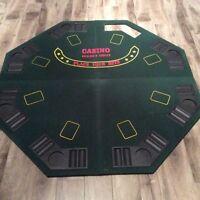 Dessus de table de poker transportable