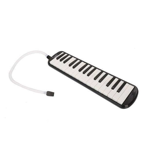 Glarry 32-Key Melodica with Mouthpiece & Hose & Bag Black