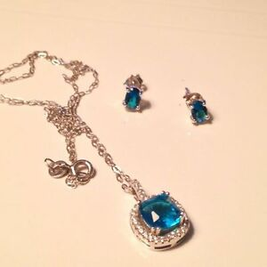 Earrings and Necklace Silver