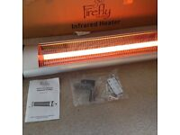Firefly 2kw wall mounted quartz tube electric heater with remote and thermostat NEW