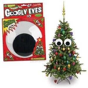 Set of Giant Googly Eyes Christmas Tree Ornaments!