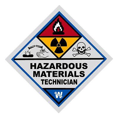Hazardous Materials Technician Haz Mat Firefighter Reflective Decal Sticker
