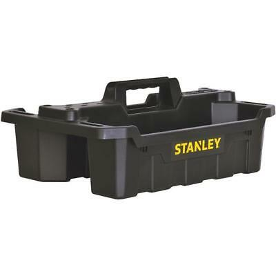 Stanley Tote Tray - (3)-Stanley Black Plastic 2 Compartment Tool Storage Tote Tray STST41001