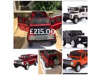Landrover Defenders Available In Red, Silver, Orange, Black, Ride-On 12v