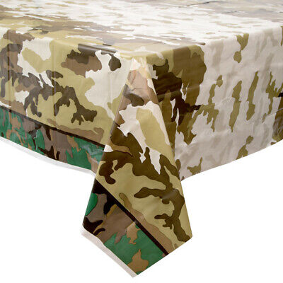 ** ARMY CAMO PLASTIC TABLE COVER 54
