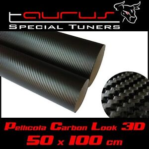 Pellicola 50x100 cm 50 x 100 wrapping carrozzeria carbon for Finestra 50x100