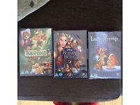 3 Brand New (sealed) Classic Disney Movies