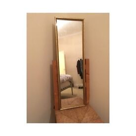 Gold framed large mirror £10 Ono