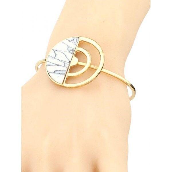 Artificial Turquoise Half Circle Cuff Bracelet